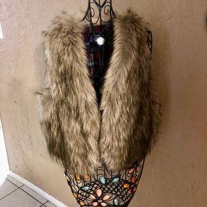 Fur like vest